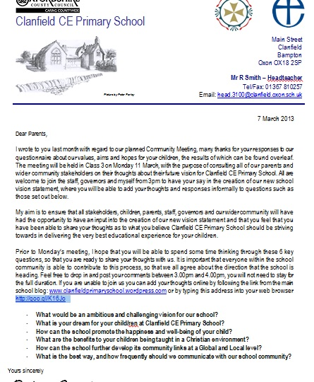 Vision Meeting Letter 7_3_13
